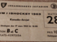 1963 Ice Hockey World Championships Ticket in Stockholm, Sweden
