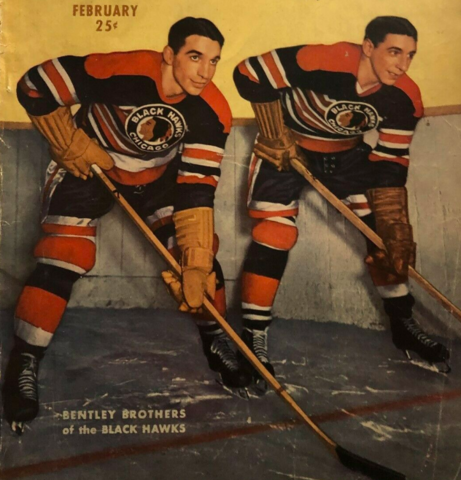 Doug Bentley and Max Bentley 1947 Chicago Black Hawks
