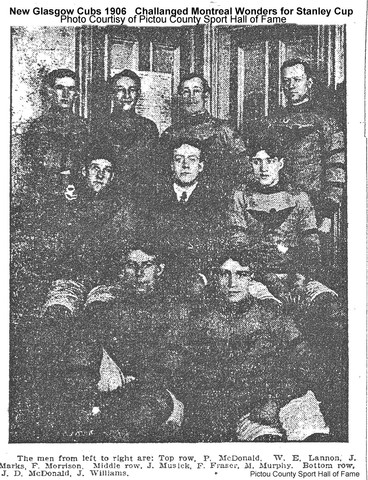 New Glasgow Cubs challange for the Stanley Cup-1906