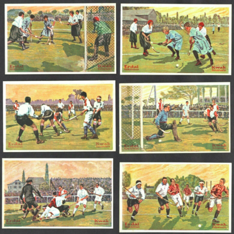 Erdal-Kwak Serienbild 1928 Field Hockey Cards