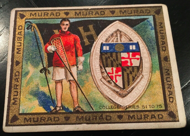 Murad Lacrosse Card 1909 College Series 51-75 The John Hopkins University
