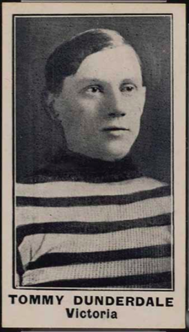 Tommy Dunderdale Hockey Card 1912 Imperial Tobacco C57 No.5