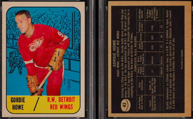 Gordie Howe Hockey Card 1967 Topps #43