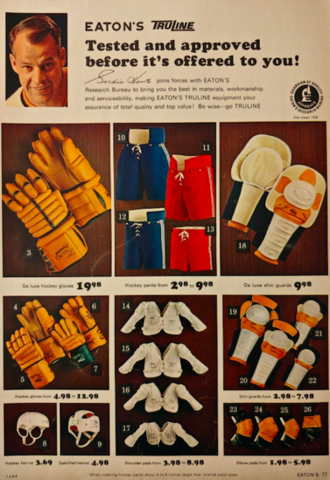 Eaton's Truline Hockey Equipment 1965
