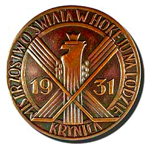 1931 Ice Hockey World Championships Participation Medal - Krynica-Zdrój, Poland
