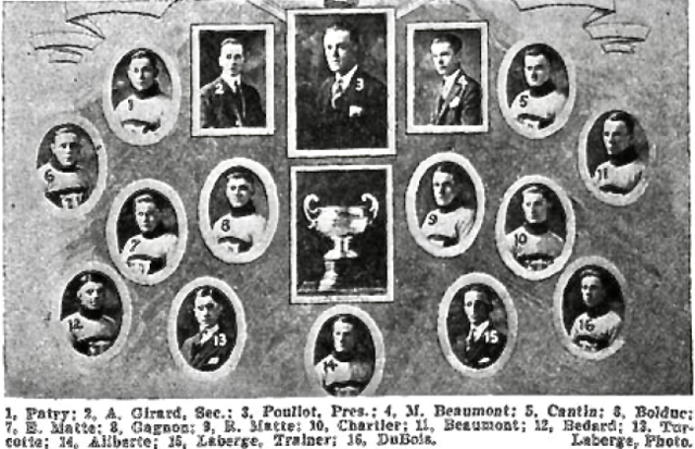 Laval Hockey Club 1923 National League of Quebec Champions