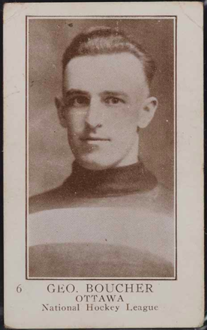 George Boucher Hockey Card 1923 V145-1 Paterson #6