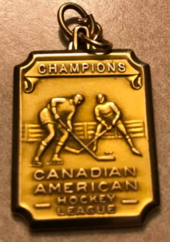 Canadian-American Hockey League / Can-Am Championship Medal 1934