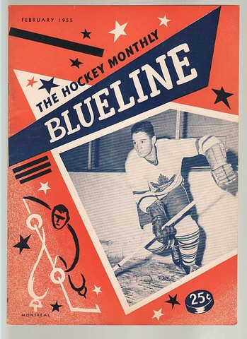 Ice Hockey Mag 1955 Blueline Toronto Maple Leafs
