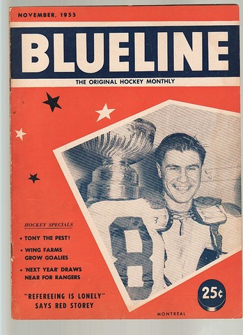 Ice Hockey Mag 1955  Blueline  Original Stanley Cup on cover