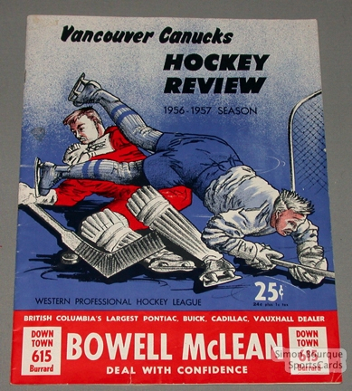 Ice Hockey Mag 1956/57 Vancouver Canucks