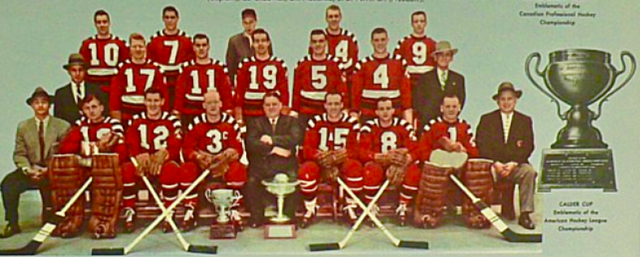 Providence Reds 1956 Calder Cup Champions