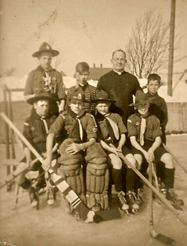 Boy Scouts Hockey Team 1950s Moncton, New Brunswick