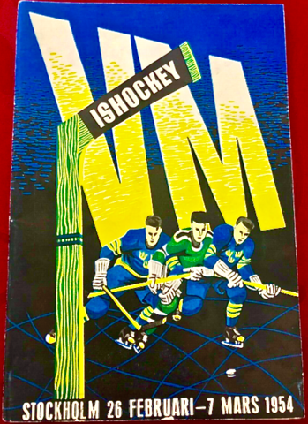 World Ice Hockey Championships 1954 Program Cover