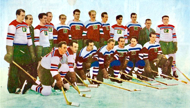 Czechoslovakia National Ice Hockey Team 1949 World Ice Hockey Champions