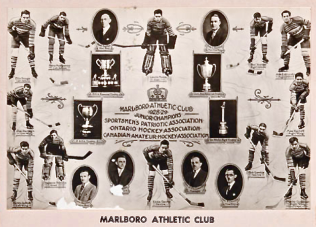 Marlboro Athletic Club 1929 Memorial Cup Champions - Toronto Marlies History
