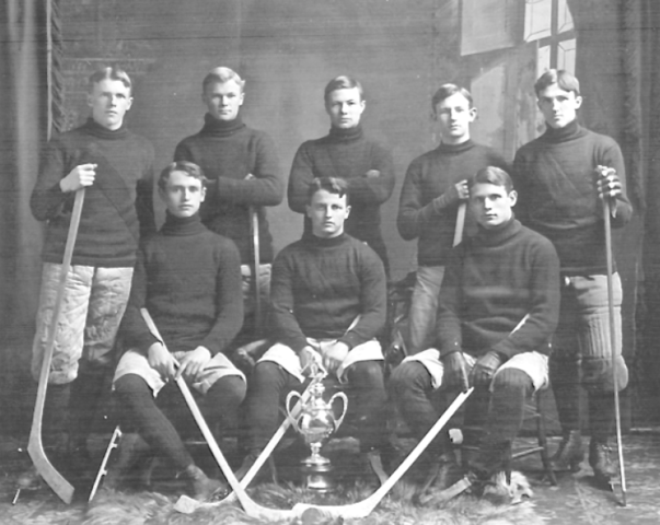 University of New Brunswick Hockey Team 1909 Sumner Trophy Champions