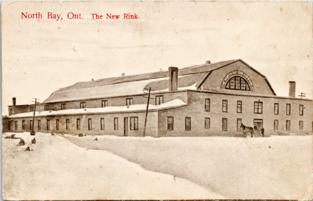 "North Bay Hockey Rink 1908 Home of the 228th Battalion ""Northern Fusiliers"" Team"
