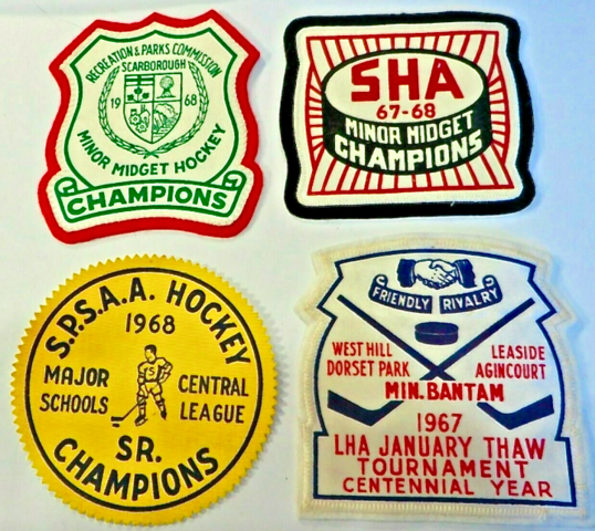Scarborough Hockey History 1960s Vintage Hockey Patches