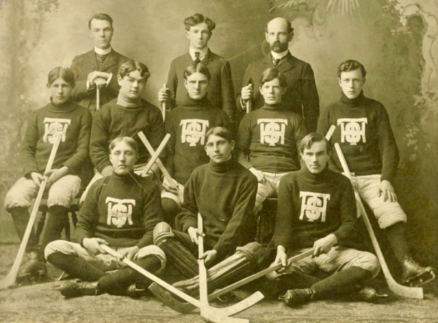 Trenton High School Hockey Team 1904
