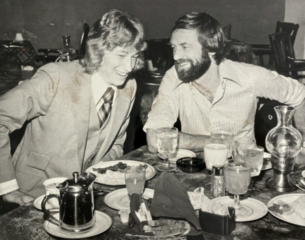 Wayne Gretzky & Nelson Skalbania share a laugh about Hockey June 12, 1978