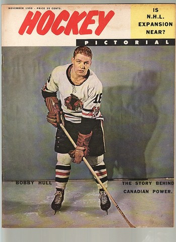 Ice Hockey Mag 1959  Hockey Pictorial Bobby Hull cover