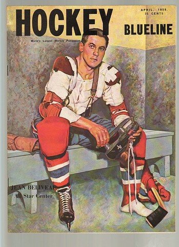 Ice Hockey Mag 1959 Hockey Blueline April