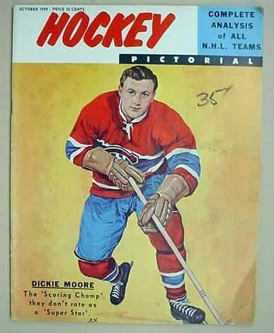 Ice Hockey Mag 1959 Hockey Pictorial  Dickie Moore cover