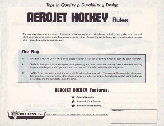 Hockey Air Hockey Tables Ad 1b