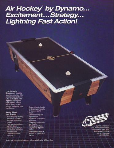 Hockey Air Hockey Tables Ad