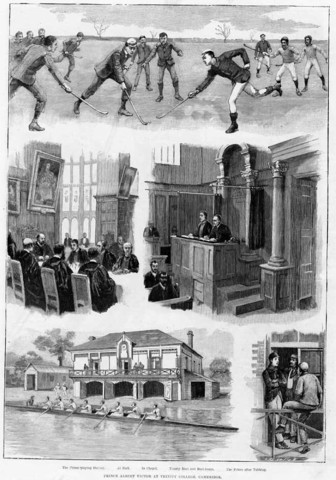 Hockey 1892 Engraving From The London News Trinity College