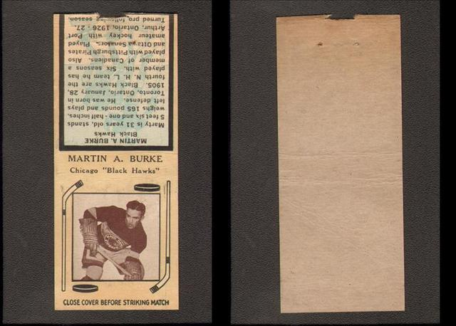 Hockey Matchbook 1936 1