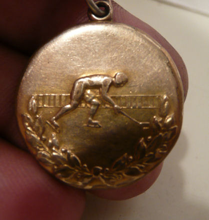 1925 Gold Medal Given to Johnny Gottselig - Regina Pats