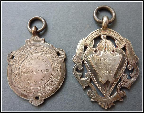 Cunningham Hockey Cup Medals 1926-27  &  1925