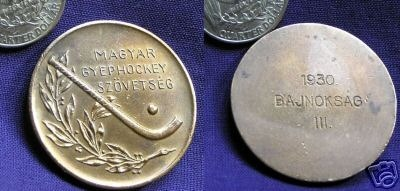Hockey Medal 1930 Hungary