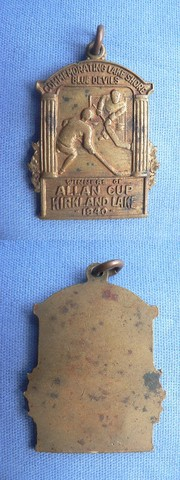 Ice Hockey Medal 1940 Allan Cup
