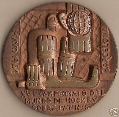 Ice Hockey Medal 1964 Spain