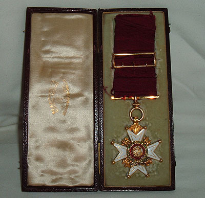 Lord Stanley Order Of The Bath Recipient 1893 Medal