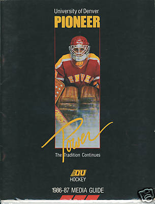 Hockey Media Guide 1986