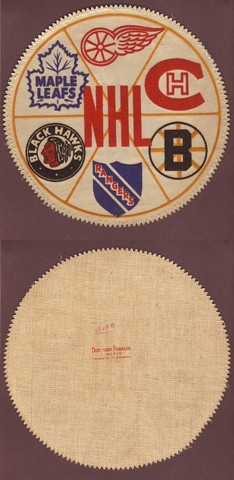 "Ice Hockey Patches 1950s Star Weekly ""Original Six"""