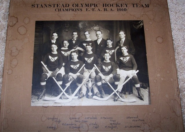 Stanstead Olympic Hockey Team - 1910 - E T A H A Champions