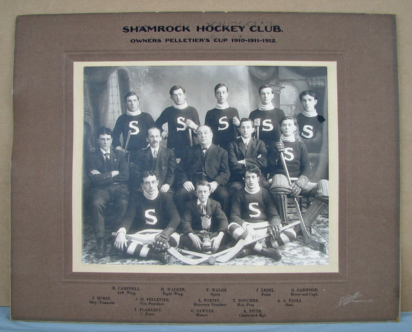 Shamrock Hockey Club - Pelletier's Cup Champions - 1910 to 19