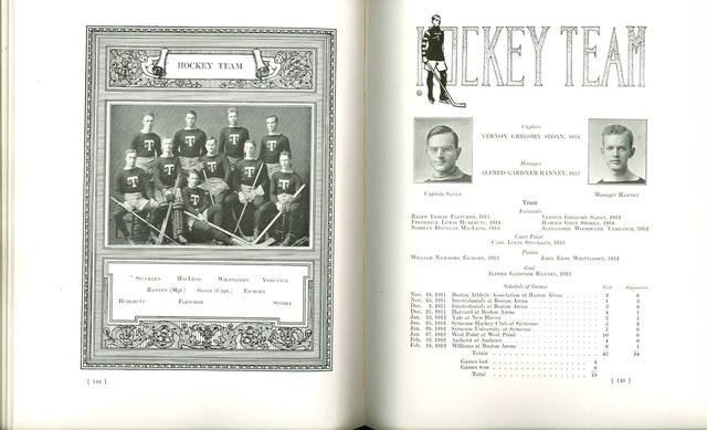 University Hockey Team Print from annual