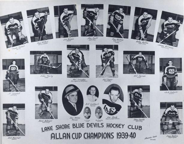 Lake Shore Blue Devils Hockey Club   1940 Allan Cup Champions