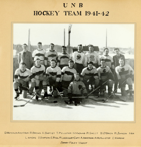 University of New Brunswick Ice Hockey Photo 1941