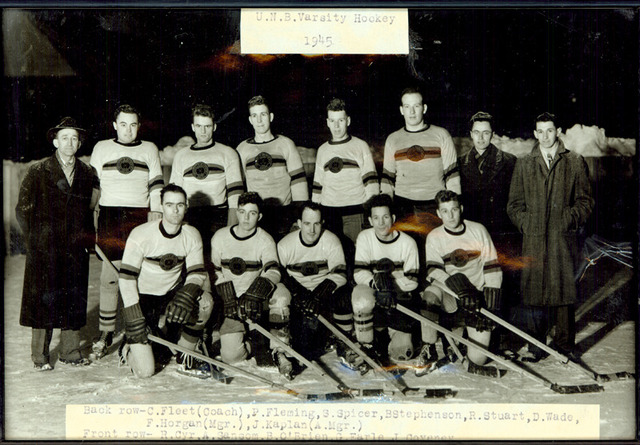 University of New Brunswick Ice Hockey Photo 1945