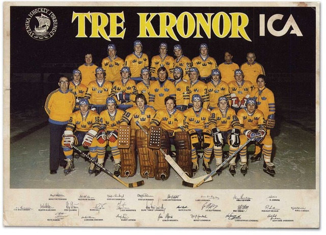 Hockey Photo 1977 Sweden