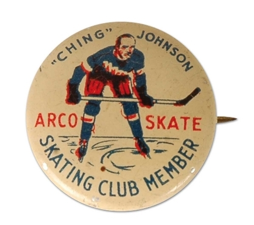 Ching Johnson Hockey Pin 1930s