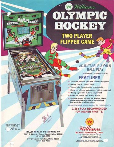 Hockey Pinball Machine Ad 1972