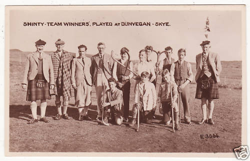 Shinty - Team Winners - Dunvegan, Skye - 1940s